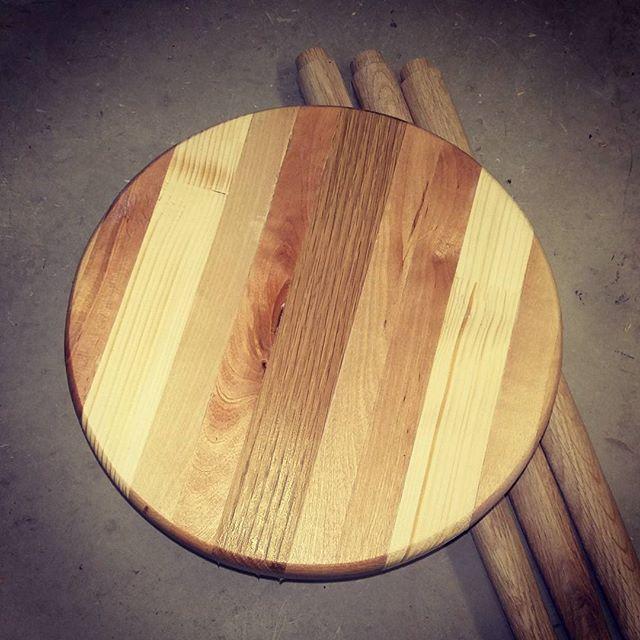 Shop stool in the making #diy #garaaz #scraps #woodworking