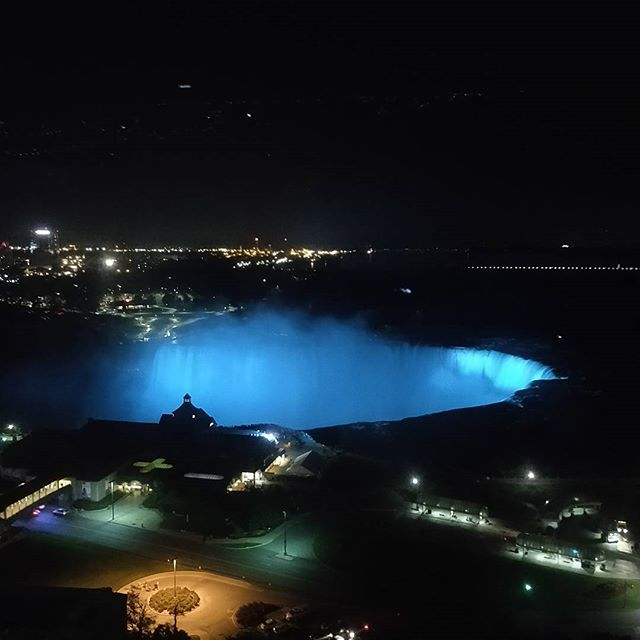 Blue #niagarafalls #night #travel